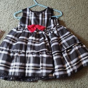 Black and silver baby dress
